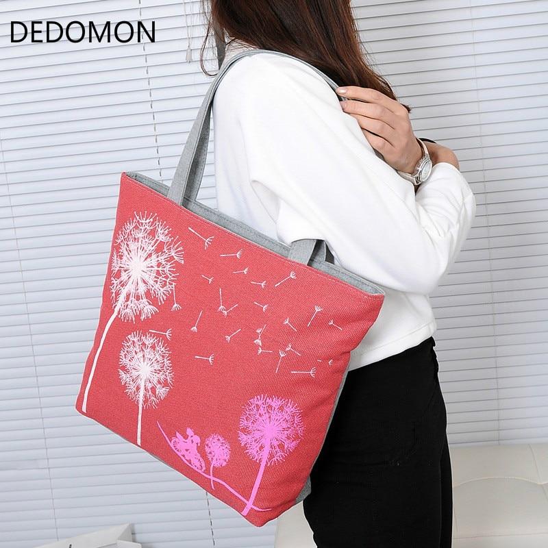 Fashion Dandelion Canvas Bag Flowers Women Handbag Shoulder Bags Women Messenger Bags taomaomao women leisure canvas shoulder messenger bags handbag
