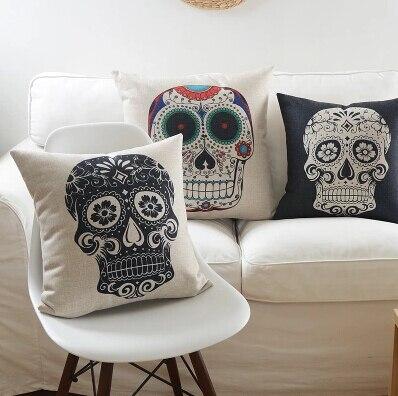 #1091 Creative Indiana Fashion Creative Skull Cushion  Pillow  Home Sofa Bed Dec Creative No Filling