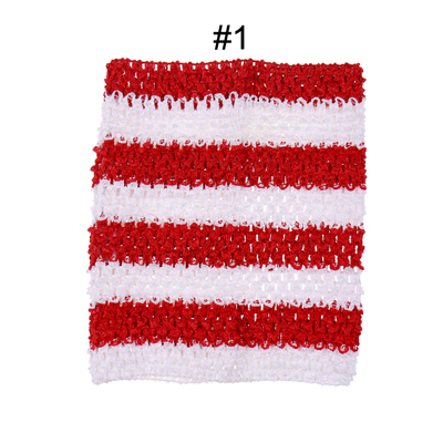 Вязанная крючком юбка-пачка для маленьких девочек, 9 дюймов, топы-трубы, обхват груди, широкая вязаная крючком, топы, юбка-пачка «сделай сам», платье, поставщик - Цвет: Red white Stripe