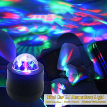 LED Car Mini Stage DJ Light USB Atmosphere RGB Colorful Music Sound Lamp for Enjoy Christmas Day Vehicle Home Party Gift