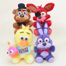 25cm pięć nocy u freddy'ego FNAF pluszowa lalka niedźwiedź Freddy Foxy Chica Bonnie wypchane pluszowe zabawki Kid lalki dla dzieci zabawki dla dzieci