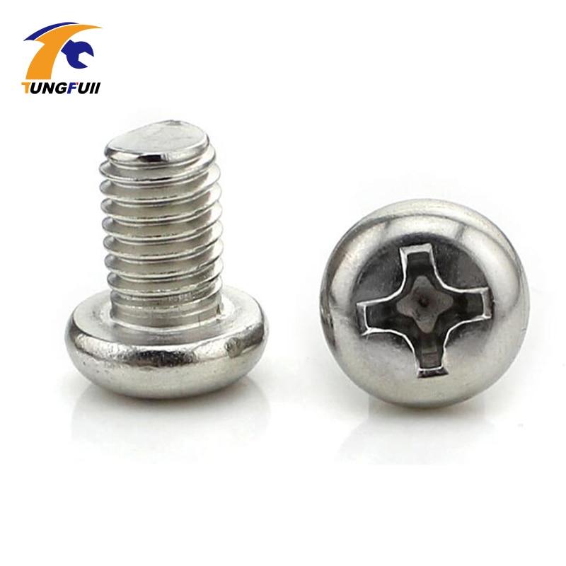 100PCS Stainless Steel M2 x 8mm Screw Cross Round Head Philips Head Screws Hex Socket Button Head Cap Screws 2mm Thread Diameter 50pcs iso7380 m3 8 m3 x 8mm titanium hex socket button head screw