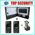 Biométrico de huellas dactilares lector de huellas dactilares sistema de control de acceso para entrar y salir de ambos lados sola puerta de control de acceso del panel inbio