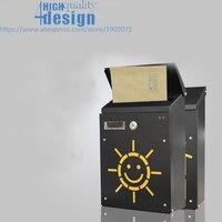 2018 Korean Small Villa Mailbox With Lock Mail Letter Postroal Box Hollow Wall Decoration Fresh New Design Sun Bug House Design