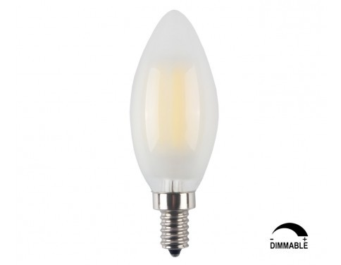 10-Pack LED E12 6W Dimmable Filament Candle Light Bulb,4000K Daylight (Neutral White) 600LM,E12 Candelabra Base Lamp C35 Bullet