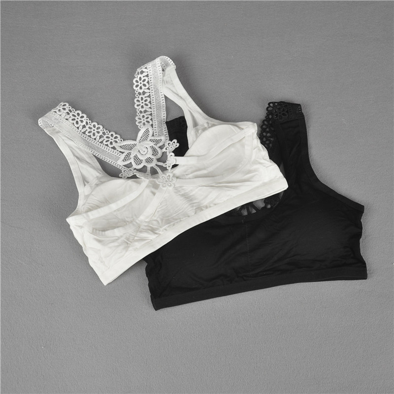 1PC Fashion Young Girls Bra Young Girls Vest Bra Lace Puberty Girl Underwear Wire Free Bra For Teens