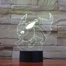 Pokemon Go Flareon Figure Colorful Night Lamp Novelty Lamps Bedroom Decor luminaria Holiday Gift Usb light Child