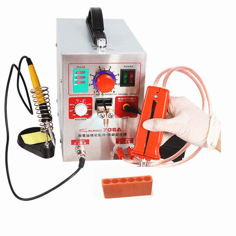 SUNKKO 709A Spot Welder 1.9KW Pulse Battery Spot Welding Machine For 18650 Battery Nickel Strip Spot Welder Precision Welding