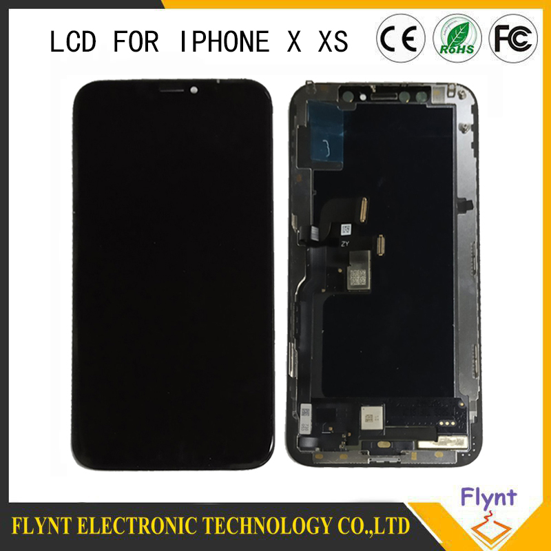 2019 AAA Black OLED For iPhone X LCD Display Touch Screen Digitizer Assembly Replacement Display For iPhone X LCD Screen