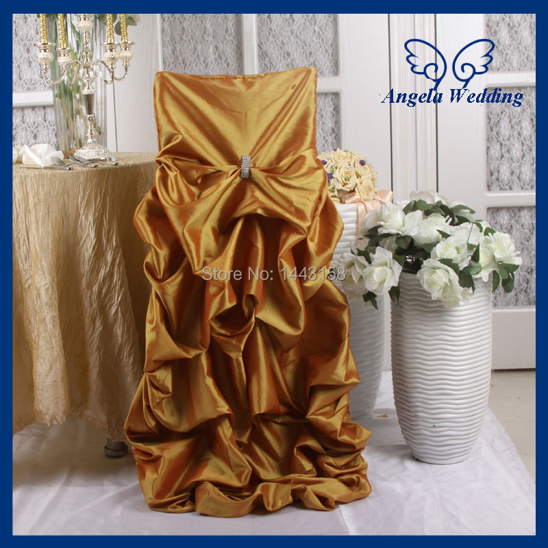 custom banquet chair covers steel manufacturers in bangalore ch003m wholesale made fancy ruffled taffeta wedding gold gathered chiavari cover with buckle from home garden on