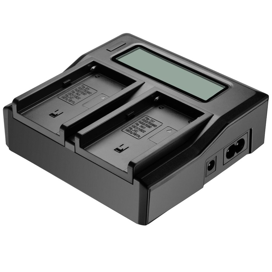 SANGER NP F970 Dual Channel Digital Camera Battery Charger LCD Display for Sony NP F550 F750 F960 NP FM50 FM500H QM71D QM91D in Chargers from Consumer Electronics