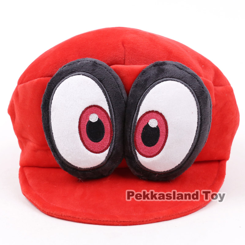 Super Mario Bros Odyssey Cappy Cap Hat Cosplay Costume Plush Toy Soft Stuffed Doll hot anime cat yellow cosplay hat cap costume accessory cartoon adult lovers hat winter totolo hat female ear plush animal hat