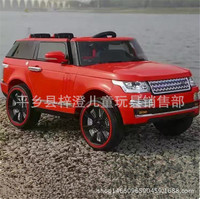 New Pattern Land Rover The Range Rover Children Vehicle Four Wheel Double Drive Remote Control Bring Can Sit Child Toys Baby