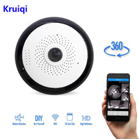 Kruiqi WiFi IP Surveillance Camera 960P HD Wireless Indoor VideCam with Night Vision, 2.4GHz Remote CCTV Home Security Cameras