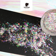 Hot multi-flakes chromeflakes holographic pigment  Galaxy Holo flakes chrome nail Magic Effect Flakes Multi Chrome