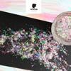 Hot multi-flakes UNICORN flakes holographic pigment Galaxy Holo flakes chrome nail flakes magical shifting flakies