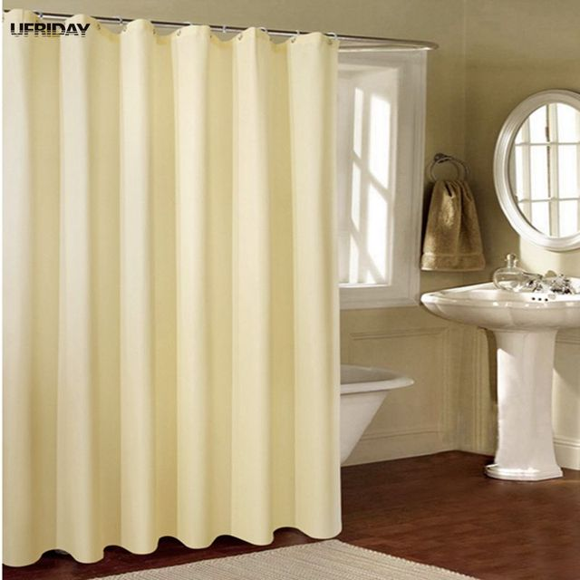 UFRIDAY Classic Brand Europe Beige Shower Curtain High Quality Polyester Waterproof Bath Curtains Hotel Bathroom