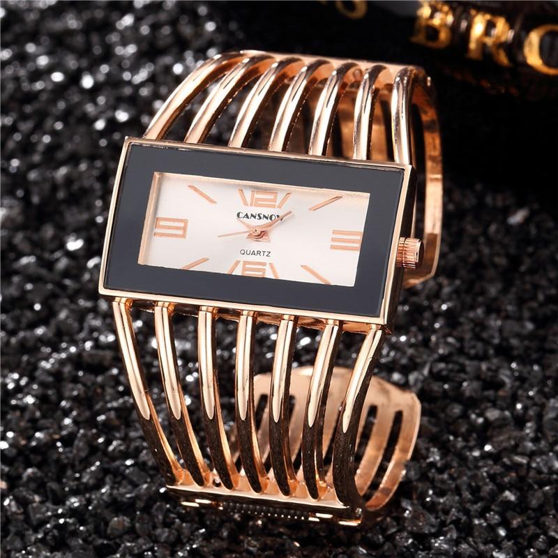 2019 Women Brand Luxury Bangle Watch Fashion Rose Gold Bracelet Women Dress Clock Female Wristwatch Relogio Montre Feminino Saat