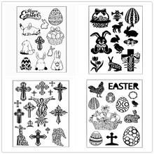Cute Bunny Easter Scrapbooking Stamps Decor Frame Paper Craft Dies Cross Couples Wedding Party Embossing Cards Stencils Stamping(China)