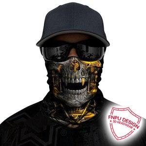 Image 2 - BJMOTO UV Protection Head Scarf Neck Motorcycle Cycling Ghost Skull Face Mask Ski Balaclava Headband Face Shield Bandana