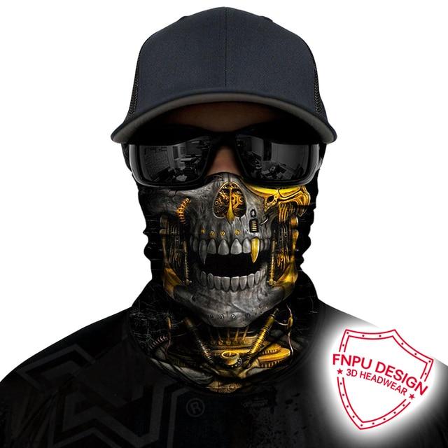 BJMOTO UV Protection Head Scarf Neck Motorcycle Cycling Ghost Skull Face Mask Ski Balaclava Headband Face Shield Bandana 1