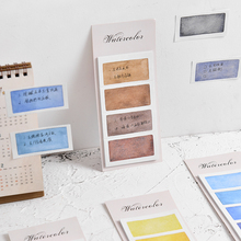 6 pcs Watercolor sticky note set Mini post tag memo pad Color planner stickers marker it label Stationery Office School A6633