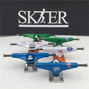 """Image 1 - Di Skateboard di qualità Parti di Mezzo Vuoto Tipo di Camion di Skateboard 5.5 """"di Colore Fantasia Skate Camion di Alluminio Camion De Skate"""