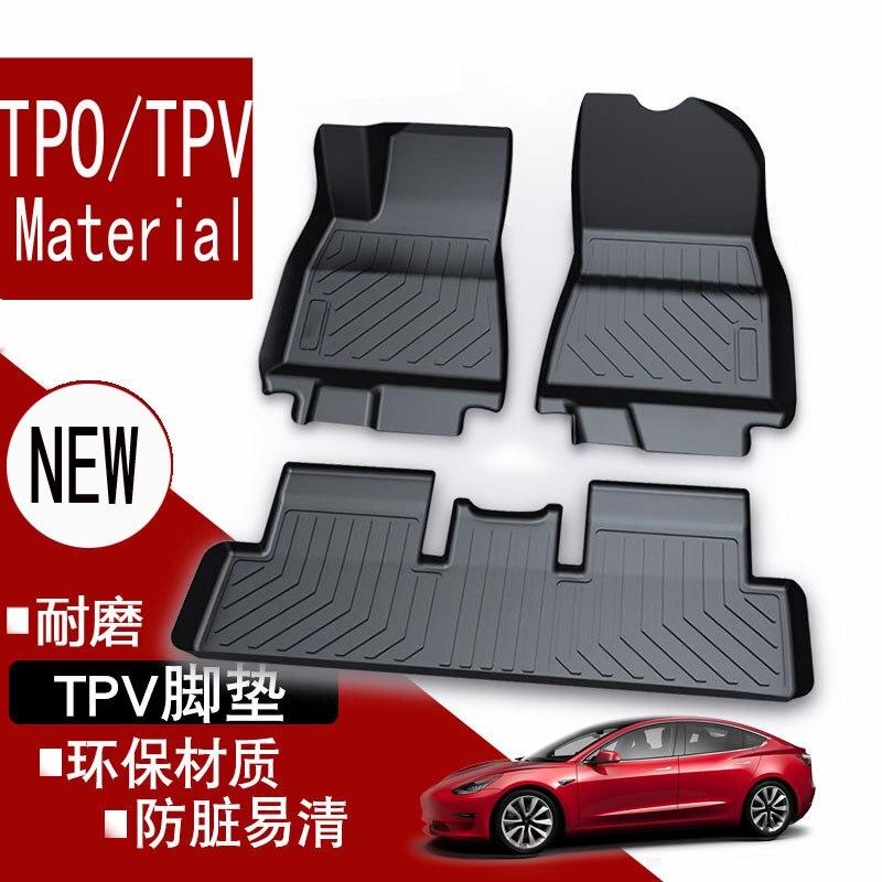 FLASH SALE] Custom logo car floor mats for tesla model 3