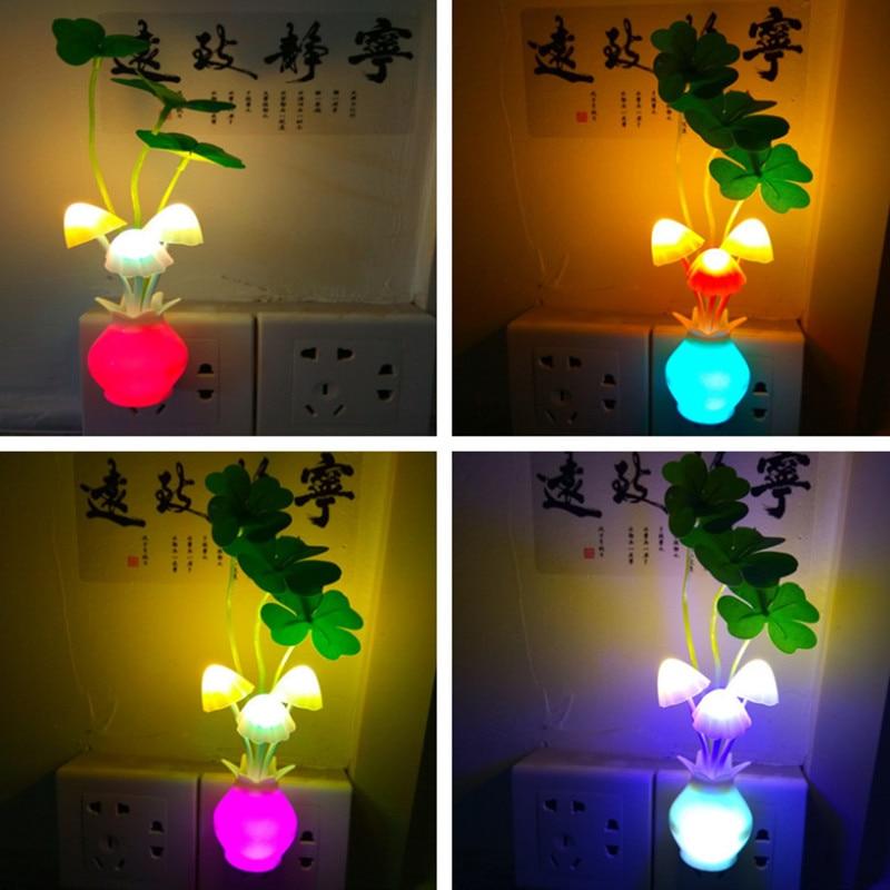 Lovely LED Lilac Night Light Festival Decoration Lamp Creative Sensor Bedroom Lamps For Kids Christmas Gift Cute Night Lights in Night Lights from Lights Lighting