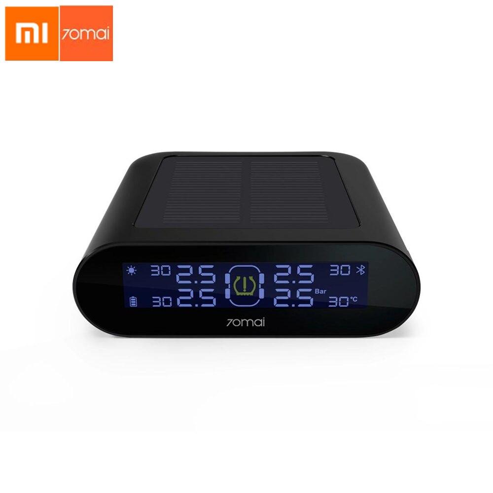 Original Xiaomi 70Mai Sensor de Monitor De Pressão Dos Pneus TPMS Sistema Seguro USB de Carregamento Solar Inteligente App Controle Receptor Display LCD