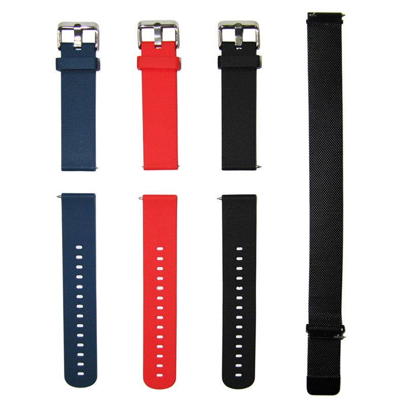 20mm Soft Silicone Replacement Watch Band For Waterproof Sport Smart Watch Fitness Bracelet Band Strap Watch Accessories in Smart Accessories from Consumer Electronics
