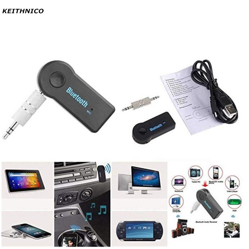 3.5mm Jack Aux Handsfree Wireless Car Bluetooth Receiver Adapter For Headphone
