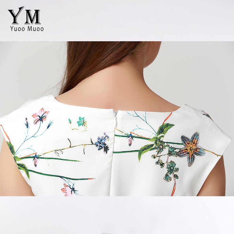 aae17c996b980 YuooMuoo 2018 Summer Dress Women Knee-length Elegant Office Dress European  Brand Design Fashion Floral Print Women Dress
