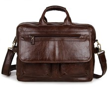 Free Shipping 100% Genuine Leather Antique Briefcase JMD Messenger Bag For Business #7085C