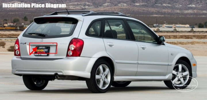 Автомобильная камера для Mazda Protege/Protege 5/камера заднего вида/HD CCD RCA NTST PAL/светильник номерного знака