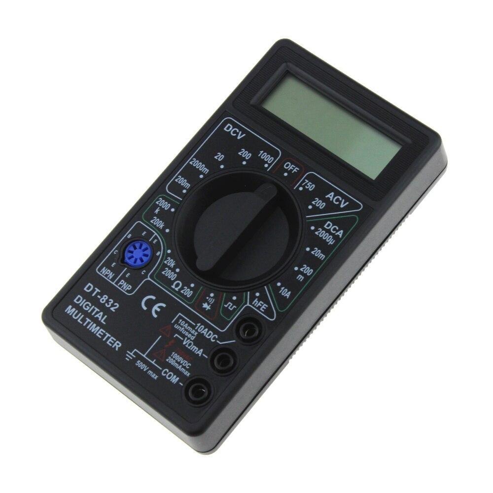 Мини DT832 Цифровой мультиметр ЖК-дисплей постоянного тока Вольтметр Амперметр ом Тестер AC/DC напряжение Цифровой Ампер Измеритель мощности т...
