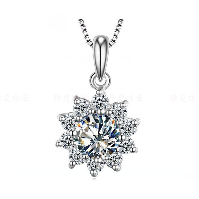2ct splendid sunflower pendant for her sterling 925 silver synthetic 2ct splendid sunflower pendant for her sterling 925 silver synthetic diamonds sweater pendant jewelry 925 necklace aloadofball Image collections