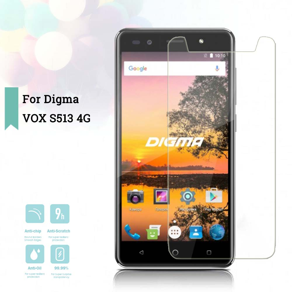 2 5D 0 26mm Ultra Thin Tempered Glass Digma VOX S513 4G Toughened Screen Protector Film Protective Screen Case Universal in Phone Screen Protectors from Cellphones Telecommunications