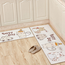 Cute Cat Kitchen Accessories Door Mat Tapete Doormats Carpet Non-Slip Bathroom Room Pad Floor Home Mats