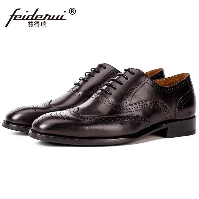 c3a3e17c8f Casamento Preto Sapatos Couro Ss489 Para De Brogue Pé Cavalheiro Flats  marrom Oxfords O Dos Festa Wingtip Homem ...
