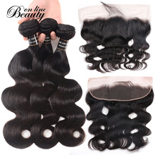 Human Hair Bundles With Closure Peruvian Hair 3 Bundles Body Wave With Closure Lace Frontal And Bundles Deals BOL Non-Remy(China)