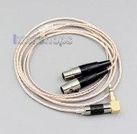 Yüksek çözünürlüklü gümüş kaplama XLR 3.5mm 2.5mm 4.4mm kulaklık kablosu Audeze LCD-3 LCD3 LCD-2 LCD2 LN006381