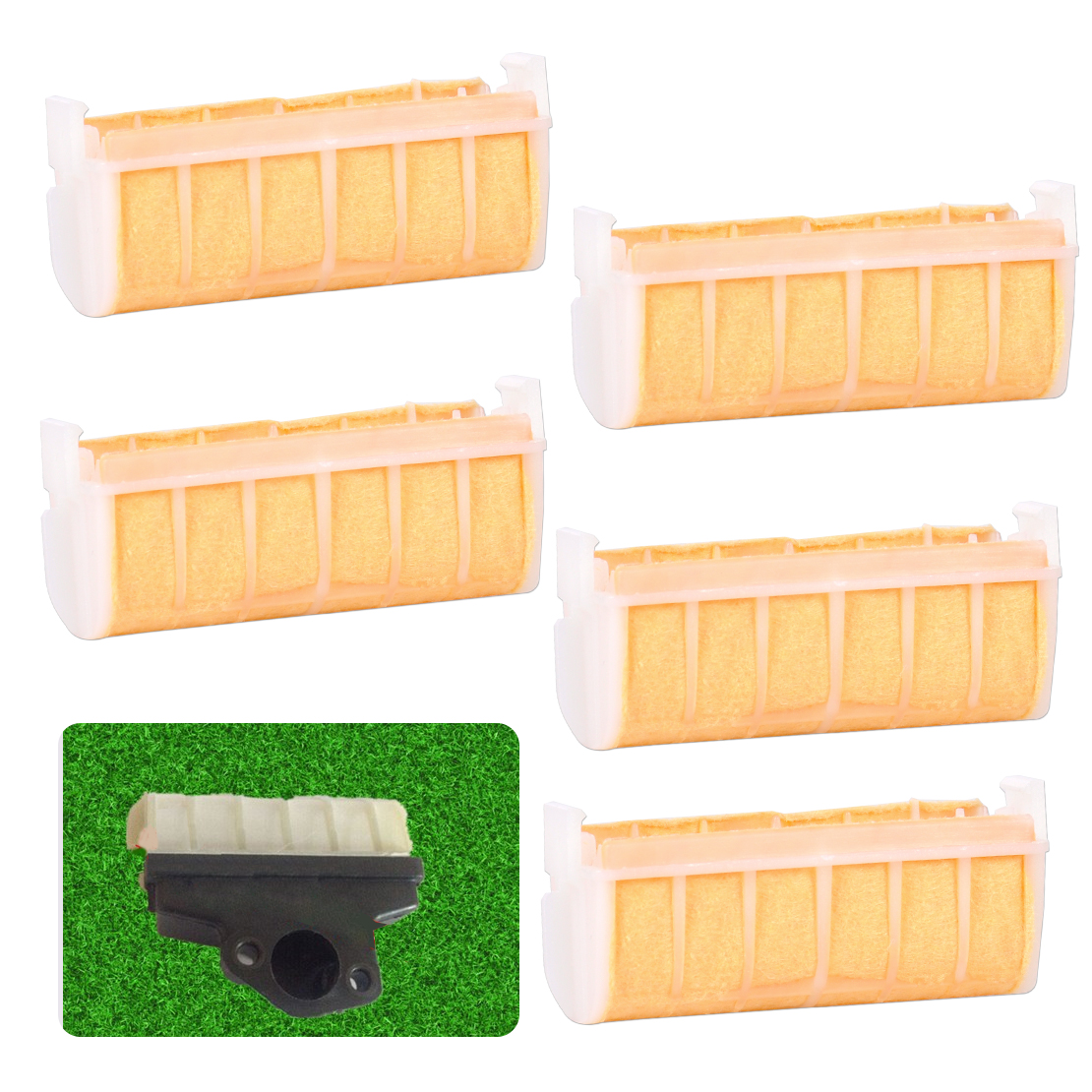 LETAOSK High Quality High Quality 5 Pcs Air Filter Replacement Fit For Stihl MS210 MS230 MS250 021 023 025 Chainsaw