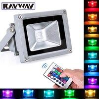 10 Wát 20 Wát 30 Wát RGB LED Flood Light COB Bên Ngoài Spotlight IP65 LED Ngoài Trời Ánh Sáng Phản Xạ Điểm Đèn Pha Đèn Điều Khiển từ xa