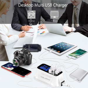 Image 5 - 8 Cổng USB Đa Năng Sạc Hub Sạc Nhanh Quick Charge 3.0 Sạc Di Động Điện Thoại Thông Minh Đế Sạc Dock Dock Điện Thoại Thông Minh Dành Cho Samsung 9