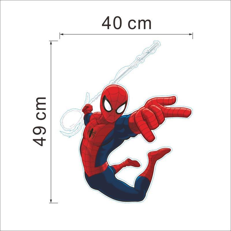 HTB1sOUxLXXXXXbxXFXXq6xXFXXXd - Hero Spiderman wall stickers for kids rooms decals home decor Kids Nursery 3D Wall sticker decoration for Boy christmas gift