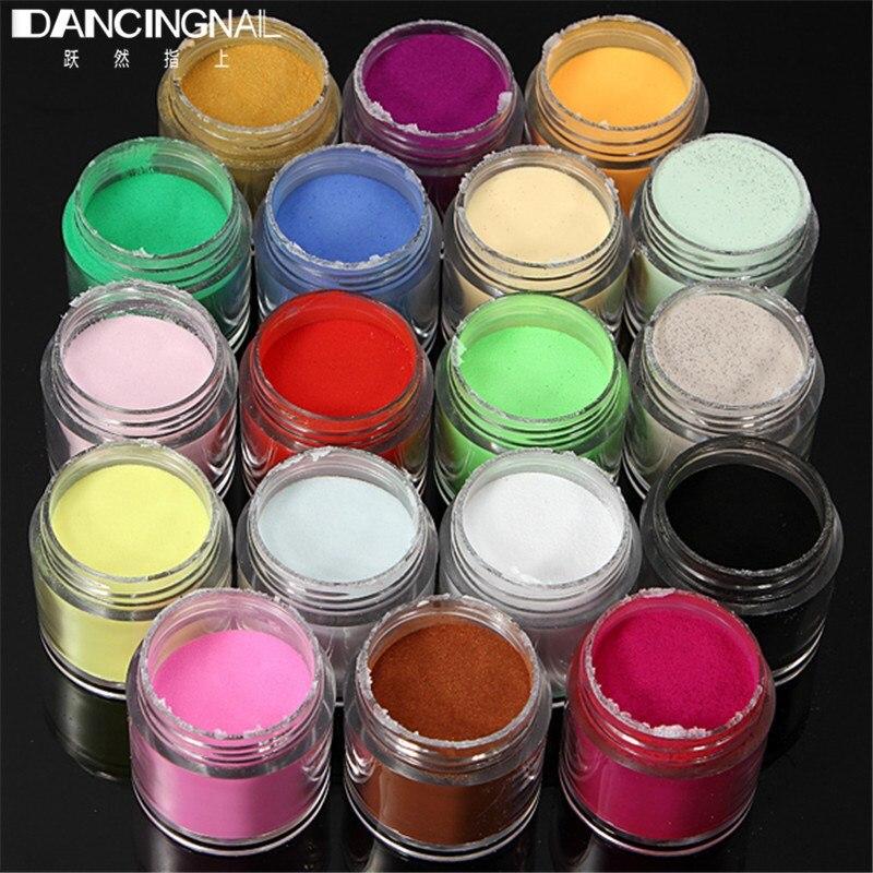 18 Farben Nagel Pulver Staub Acryl UV Gel Polish tipps Kits Salon DIY Maniküre Dekoration Werkzeuge Sets Pro Art werkzeuge