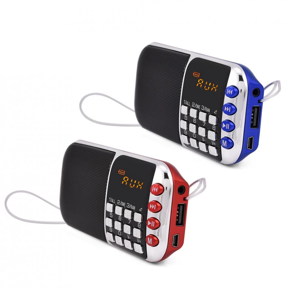 Tragbares Audio & Video Tragbare Fm Radio Stereo Lautsprecher Musik-player Unterstützung Micro Sd Tf Usb-festplatte Aux Lcd Audio Lautsprecher Fm Radios