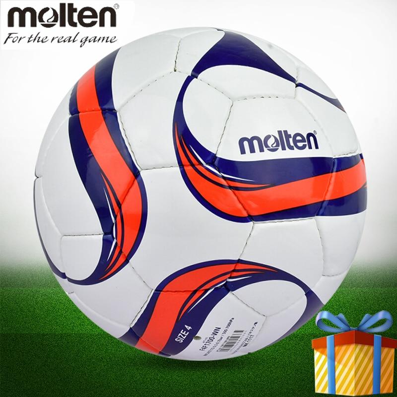 Molten futebol F4F1700 4 material PU bola de futebol futsal tamanho pelotas  voetbal fussball bola de c8db09ce92514