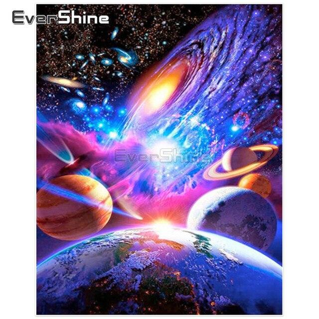 EverShine 5D Diamond Painting Universe Full Square Diamond Mosaic Landscape  Pictures Of Rhinestone Diamond Embroidery Home fdd0a460dede